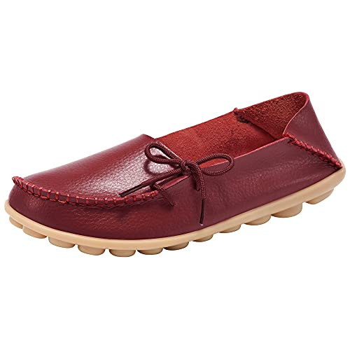Top 10 best selling list for socofy breathable leather flat shoes