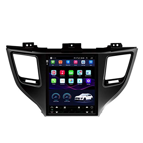 GOHHK Tesla Modelo 2G+32G Android10 Radio de coche para Hyundai Tucson/IX35 2015 2016 2017 Multimedia Radio Estéreo GPS Navegación No Dvd 1din(Tamaño: ocho núcleos, Color: WIFI 1+16G)