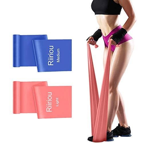 Bandas Elasticas Fitness, 2M Cintas Elásticas Bandas de Resistencia Ideales para Mujer y Hombre Pilates, Fisioterapia, Yoga Estiramientos, Musculacion, Piernas, Fuerza Entrenamiento (Pink_Blue)