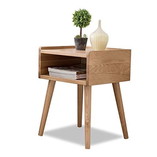 GZQDX Mesita de noche – Mesita auxiliar de noche de madera para sofá de cama, cajón, estante de almacenamiento, tamaño del dormitorio: 39 x 35 x 51,5 cm