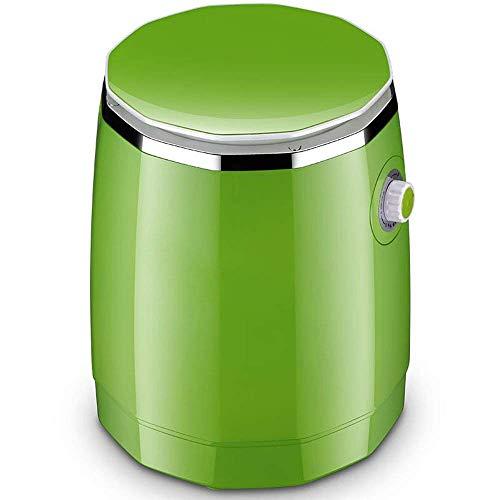 WASHING MACHINE 1 Mini Pequeña Lavadora ABS Resina Cubo seco Desinfección Lavandería Deshidratación Integración Dormitorio Hogar Niño, Verde