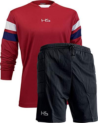 HS S13 Passion, Kit Portiere Corto Unisex – Adulto, Rosso/Blu Navy/Bianco/Nero, S