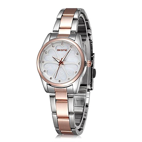 Ladies Stainless Steel Wrist Watch for Women - Female Rose Gold, Silver