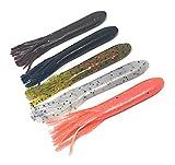 Wtrees #2711 Best Fishing Worms Senkos Flukes Soft Plastic Baits Kit for Bass