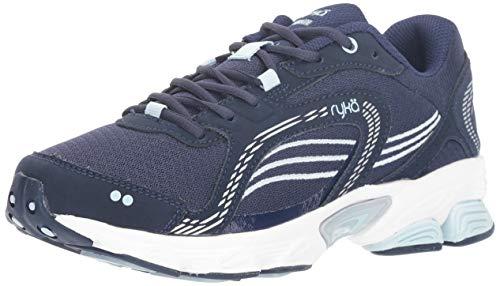 Ryka Women's Ultimate Running Shoe, Blue/Silver, 8.5 W US
