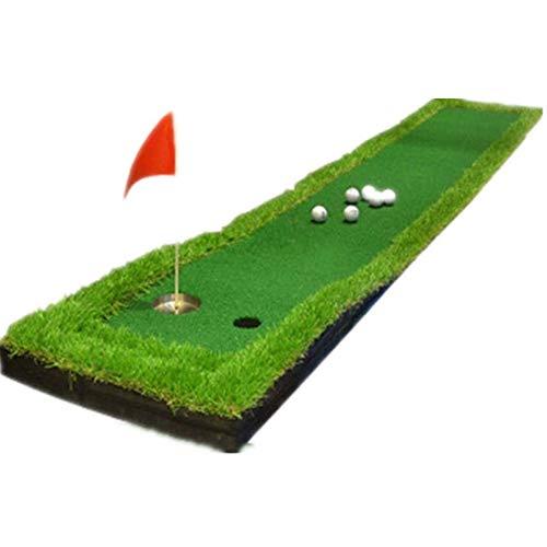 AJH Indoor Minigolf grünes Gras 0.5 * 3M Fairway Putter Outdoor-Training Decke, Golfplatz Trainingssatz