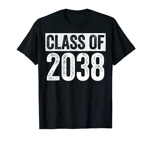 Class Of 2038 Camiseta Senior 2038 Graduación Regalo Camisa Camiseta