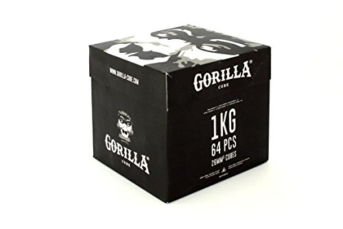 Gorilla Cube Shisha Kohle 1kg Box - 26mm Cubes