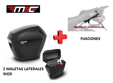 Kit SHAD fijacion 3P + Maletas Laterales SH23 Honda CB500X (13-17)