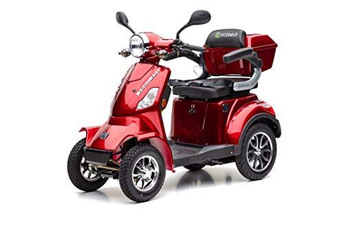 ECONELO-J4000-Seniorenmobil-4-Rad-Roller-1000-Watt-USB-Farbe-ROT
