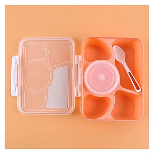 WSYGHP Takagawa - Fiambrera portátil para microondas y frutas, caja de almacenamiento para comida al aire libre, caja de almuerzo de picnic (color: rosa)