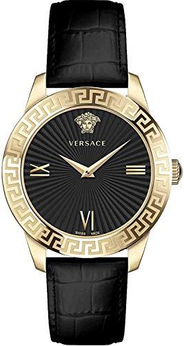 Versace Damen - Brazalete para mujer, talla S.38 mm, D/BLK S/BLK IP2N V279 VEVC003 19