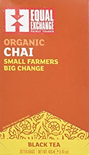 Equal Exchange Organic Teas C=Caffeine Chai Black Teas 20 tea bags