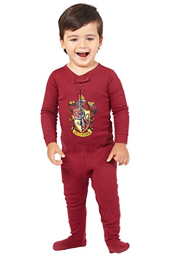 Harry Potter Intimo Baby Pajamas Set Footed Jammies Beanie Hogwarts House Gryffindor 18 Month
