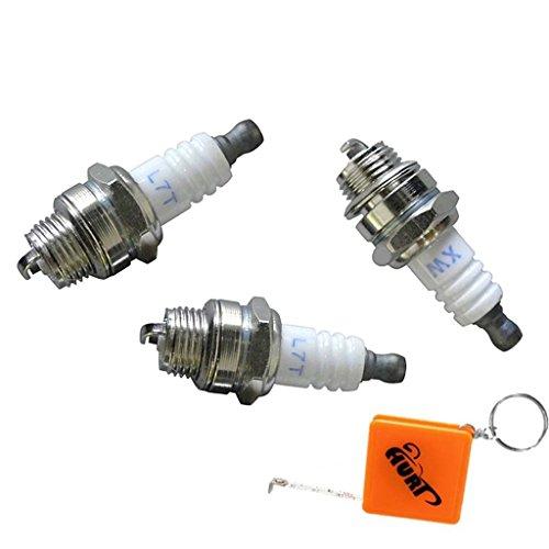 HURI 3 Stück Zündkerze für Rotfuchs BC52 Motorsense Freischneider Rasentrimmer 3PS 52ccm