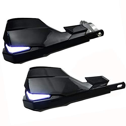 2 Piezas Protector Universal Motociclistas 7/8'con indicador señal LED, 22mm reemplazo paramanos Moto, Moto Universal Protectores de la Mano Honda Yamaha Kawasaki Moto de la Suciedad Motocicleta