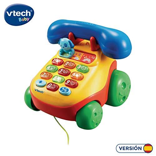 VTech- Teléfono Interactivo Infantil con luz y Voz (3480-068422)
