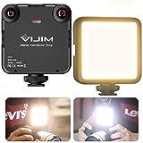 VIJIM VL81 LED On Camera Video Light w Softbox,Mini Rechargeable 3000mAh Bi-Color LED Light Camera Filming,CRI95 Dimmable 3200-5600K LED Fill Light,Camera Photo Light Panel for Sony,Nikon,Canon
