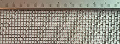 Edelstahl Drahtgewebe mit 2 mm Maschenweite, 0,5 mm Drahtstärke. 1m x 50cm