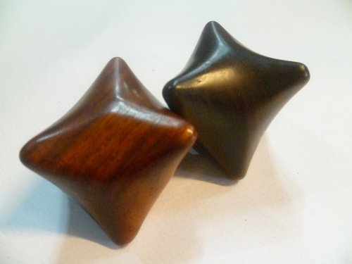 2x Amazing Reflexology Thai Foot Massage Wooden Star Shape Hand Massage Tool by Mr. Thai Silk, Thailand