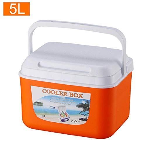 MOKY Pesca 5L al Aire Libre Incubadora portátil de Almacenamiento de la Comida fría del refrigerador del Coche de Caja Nevera, para la Pesca de Viaje de conducción al Aire Libre o en casa,B