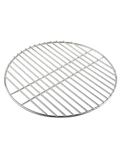 KAMaster Stainless Steel Cooking Grid Grates for Medium Big Green Egg Accessories Round Wire Grill Grate Replacement for Smokey Joe and BGE (15'-for Medium Eggs)
