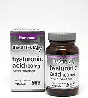 Bluebonnet Nutrition Hyaluronic Acid, Best for Hair, Skin, Nails, Skin Hydration, Beauty Nutrient, Non GMO, Gluten Free, Soy Free, Milk Free, 90 Softgels, 90 Servings
