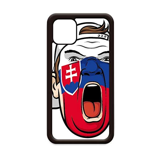 Slowakije Vlag Gezicht Schilderij Make-up Cap voor Apple iPhone 11 Pro Max Cover Apple Mobiele Telefoon Case Shell, for iPhone11 Pro Max