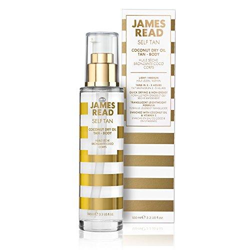 JAMES READ Aceite seco bronceador corporal al coco 100ml Bronceado gradual para...