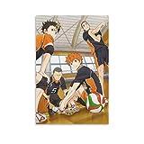 DRAGON VINES Póster decorativo de arte de Hinata Shoyo Ryunosuke Tanaka Yu Nishinoya Asahi Azumane Cool Art de Hinata Shoyo Ryunosuke Tanaka Yu Nishinoya Asahi Azumane, sin marco, 60 x 90 cm