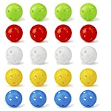 Crestgolf Plastic Golf Training Balls – Airflow Hollow 40mm Golf Balls for Driving Range, Swing Practice, Home Use,Pet Play.(Mixed Color,20 Pack)