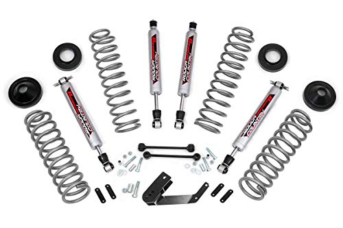 "Rough Country 3.25"" Dual Lift Kit compatible w/ 2007-2018 Jeep Wrangler JK 4DR w/ N3 Shocks Suspension System PERF694"