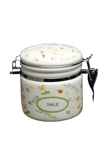 TOGNANA Salzdose Dolce Casa Floreal, aus Keramik mit Blütendekor, mit Bügelverschluss, 370 ml