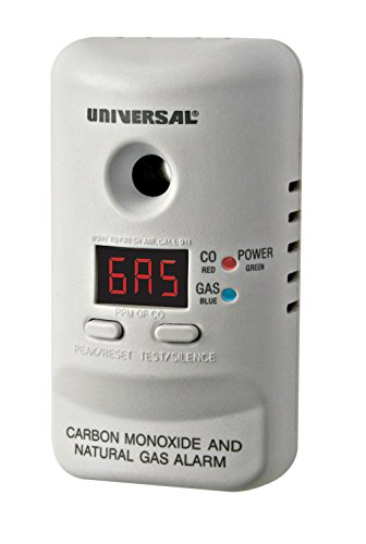 Universal Security Instruments M Series Plug-In Carbon Monoxide and Natural Gas Alarm with 9 -Volt Battery Backup, Model MCND401B,Classic White