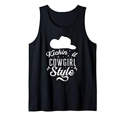 Cowgirl Hat Princess Line Dancing Ladies Girls Horse Rodeo Tank Top