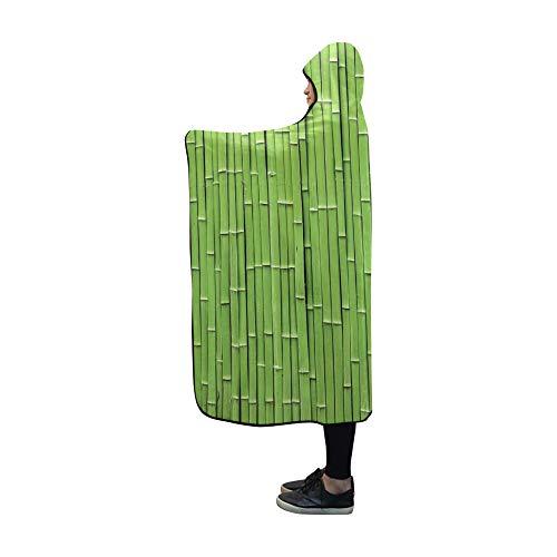 JOCHUAN Coperta con Cappuccio Coperta con zattera di bambù 60x50 Pollici Conchiglia Avvolgente con Cappuccio Comfotable