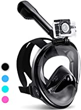 Zentouch Full Face Snorkel Mask, with Latest Dry Top System and Safety Breathing System,Foldable 180 Degree Panoramic View Snorkeling Mask with Camera Mount, Anti-Leak&Anti-Fog for Adults&Kids