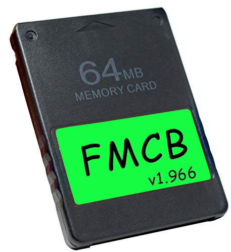Skywin FMCB Free McBoot Card v1.966 for PS2 - Plug and Play PS2 Memory Card - 64 MB Memory Card PS2 Runs Games in USB Disk or Hard Disk