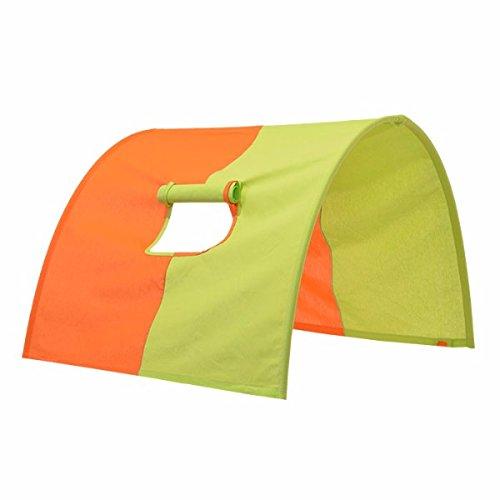 Tunnel voor hoogslaper tunnel voor hoogslaper en stapelbedden, tunnelboogtent verbergen holte bed tent beddak speeltunnel voor kinderbed 100% katoen stapelbed hoogslaper speelbed kleur: oranje/groen