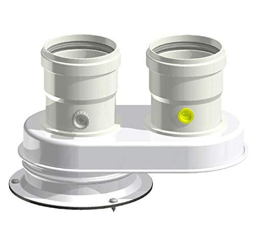 Tygerix - Distribuidor completo + aislamiento Ø 80 mm caldera condensación Junkers Bosch