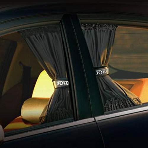 XIAOSHUIQUAN 2pcs / Set Universal Auto-Seitenscheibe Sonnenschutz Vorhänge Auto Windows-Vorhang-Sonnenblende Jalousien Cover Car-Styling (Color : BK S)