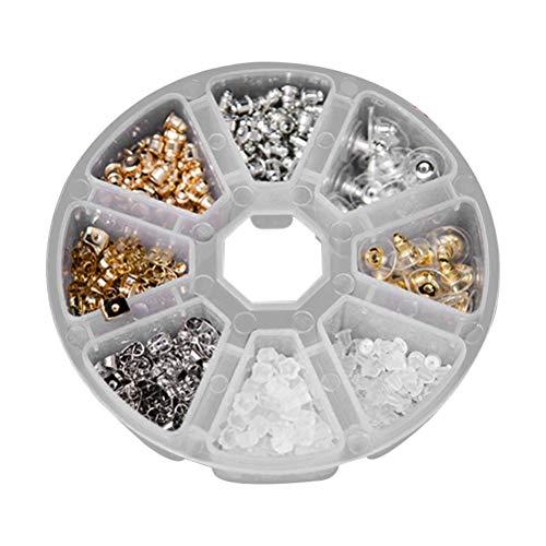 SUPVOX Tope de pendientes con cierre de mariposa para pendientes de plata y oro, 440 unidades