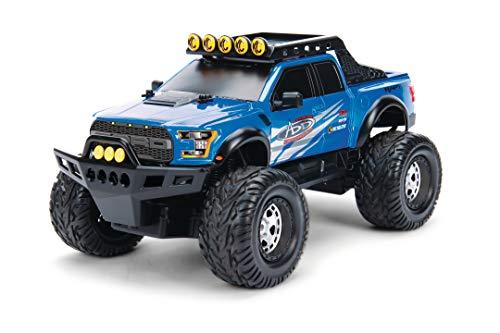 Dickie Toys 251109000 4 X 4 2017 Ford F-150 Raptor 4x4, RC, Ferngesteuertes Auto mit Funksteuerung, Turbo, bis zu 14 km/h, Allradantrieb, inkl. Batterien, Maßstab 1:12, 29 cm, ab 6 Jahren