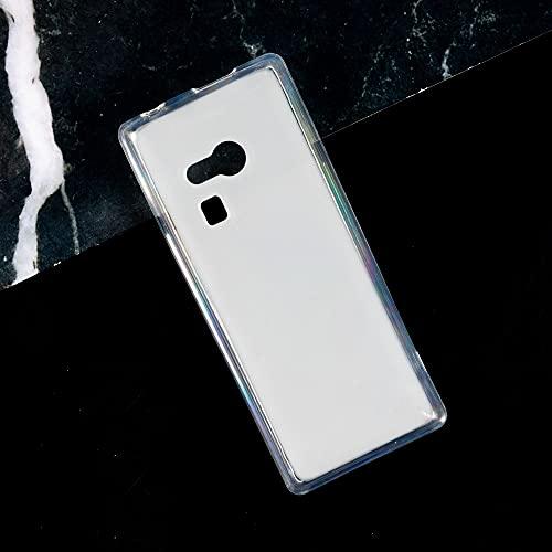 Microsoft Nokia 216 Hülle, Soft TPU Back Cover Stoßfest Silikon Bumper Anti-Fingerabdruck Ganzkörper Schutzhülle für Microsoft Nokia 216 (weiß)