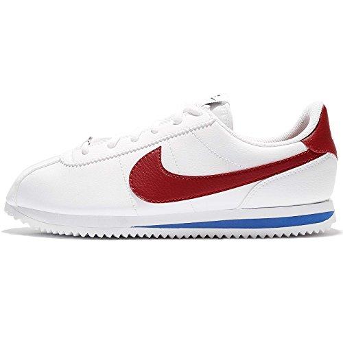 Nike Cortez Basic SL (GS), Zapatillas de Gimnasia Niñas, Blanco (White/Varsity Red/Varsity Royal 103), 35 EU