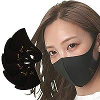 ミオナ アイスシルクマスク 5枚セット ふつうサイズ(男女兼用) ブラック