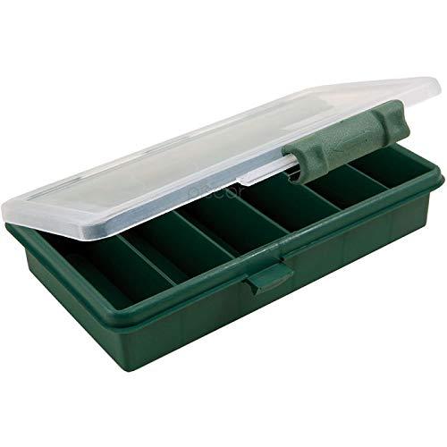 Lineaeffe Boîte à Leurres Small 16.5 x 9 x 3 cm Boîte de Pêche Rangement Accessoire Leurre Hameçon Compartiment Plastique