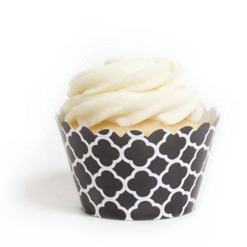 Robe My Cupcake Noir espagnol pour carrelage de cupcakes, Lot de 12