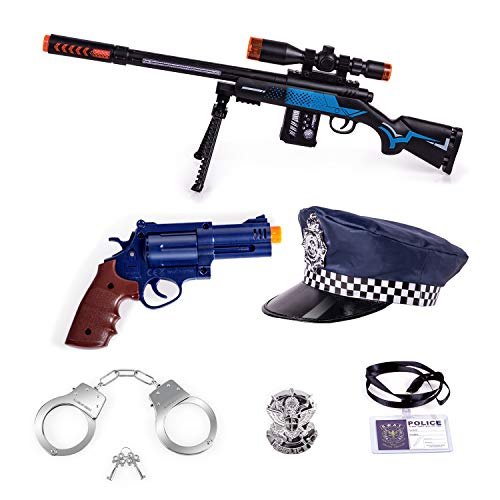 Tuko Kid Police Costume Pretend Playset Toys for Boys and Girls 3 Years Old Up