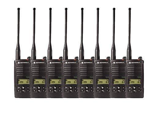 8 Pack of Motorola RDU4160d Two Way Radio Walkie Talkies